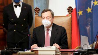 Il nuovo presidente del Consiglio, Mario Draghi